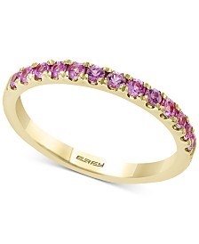 Watercolors by EFFY® Multi-Sapphire Band (5/8 ct. t.w.) in 14k Gold (Also Available In Pink Sapphire)