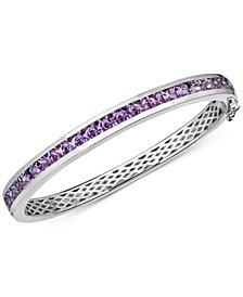 Amethyst Bangle Bracelet (6-1/2 ct. t.w.) in Sterling Silver