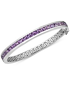 Amethyst Bangle Bracelet (6-1/2 ct. t.w.) in Sterling Silver