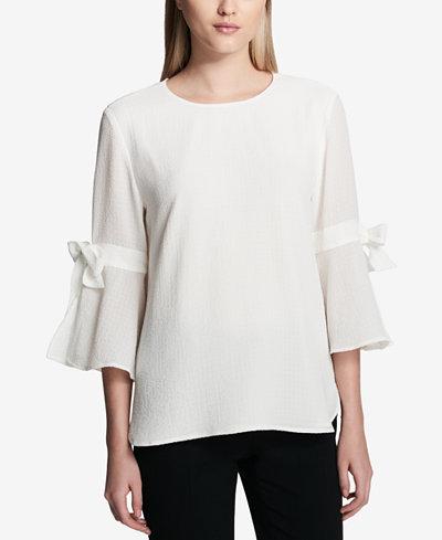 Calvin Klein Bow-Sleeve Top