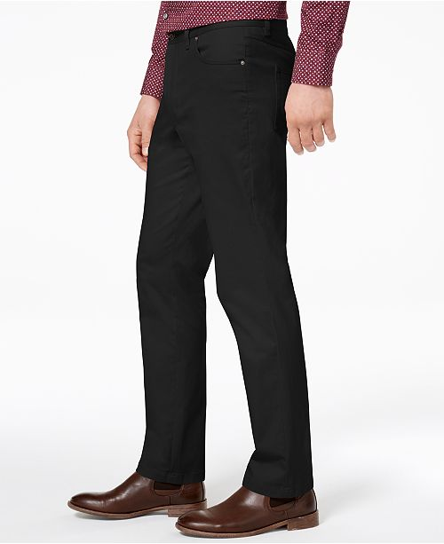 257aab264 Tasso Elba Men's Straight-Fit Stretch Pants, Created for Macy's ...