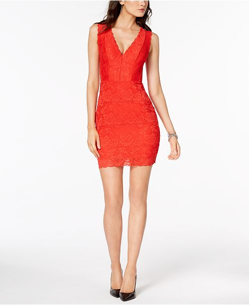 33c9ec57de GUESS Katrina Lace Illusion Dress   Reviews - Dresses - Juniors - Macy s