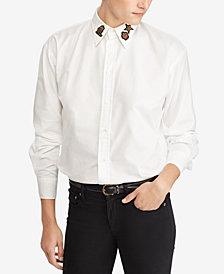 Polo Ralph Lauren Cotton Bullion-Patch Boyfriend Shirt