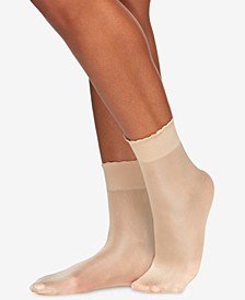 Women's  Shimmer Opaque Anklet Socks 5116