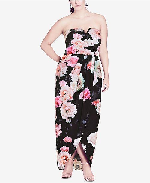 City Chic Trendy Plus Size Strapless Maxi Dress & Reviews - Dresses ...
