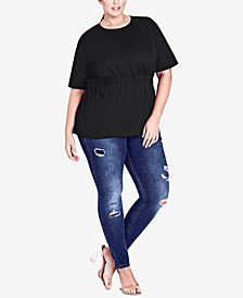 City Chic Trendy Plus Size Tie-Back Top