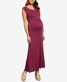 Jessica Simpson Maternity Cap-Sleeve Maxi Dress