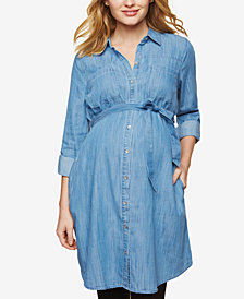 Motherhood Maternity Chambray Shirtdress
