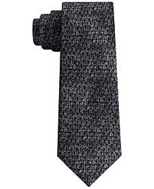 DKNY Men's Photo Realistic Dot Print Slim Silk Tie
