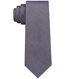 DKNY Men's Denim Pindot Slim Tie