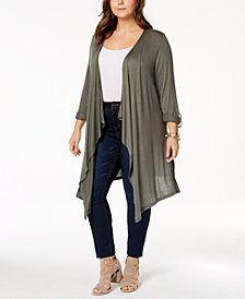 I.N.C. Plus Size Duster Cardigan, Created for Macy's