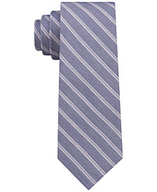 DKNY Men's Multi Twill Stripe Slim Tie