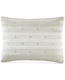 Hotel Collection Gilded Geo Embroidered Quilted King Sham, Created for Macy's