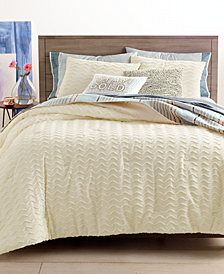 Whim by Martha Stewart Collection Chevron Chenille Bedding Collection, Created for Macy's
