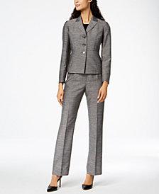 Le Suit Mélange Peak-Collar Pantsuit