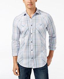 I.N.C. Men's Plaid Shirt, Created for Macy's