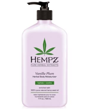 Hempz Vanilla Plum Herbal Body Moisturizer 17oz from Purebeauty Salon  Spa