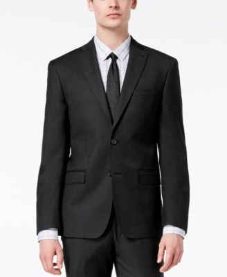 Men's Modern-Fit Stretch Textured Suit Jacket
