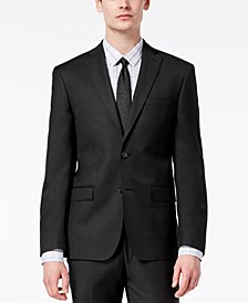 Men's Modern-Fit Stretch Textured Wool Suit Jacket