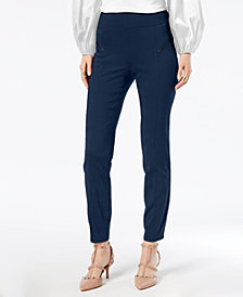 I.N.C. Curvy-Fit Skinny Moto Pants, Created for Macy's