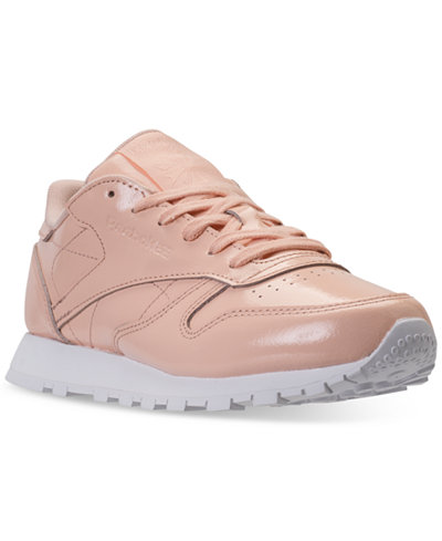 Reebok Women's Classic Leather Patent Casual Sneakers from Finish Line