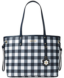 MICHAEL Michael Kors Gingham Large Tote, Created for Macy's