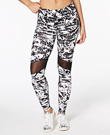 Material Girl Active Juniors' Printed Illusion Yoga Leggings, Created for Macy's