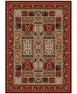"CLOSEOUT! Pesaro Panel Red 3'3"" x 4'11"" Area Rug"