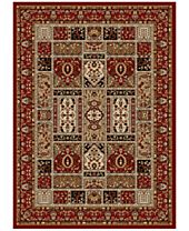 CLOSEOUT! KM Home Pesaro Panel Red Area Rug