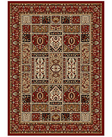 "CLOSEOUT! KM Home Pesaro Panel Red 3'3"" x 4'11"" Area Rug"