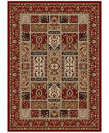 KM Home Pesaro Panel Red Area Rug Collection