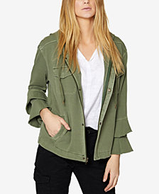 Sanctuary Cotton Tiered-Sleeve Hoodie