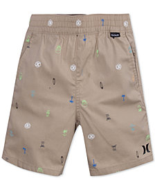 Hurley Printed Cotton Shorts, Toddler Boys