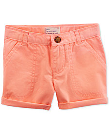 Carter's Cotton Twill Rolled Cuff Shorts, Toddler Girls