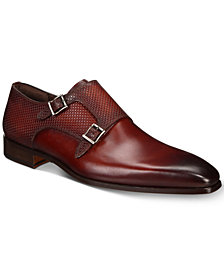 Massimo Emporio Men's Wingtip Double Buckle Monk-Strap Loafers, Created for Macy's