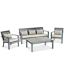 Marlough II Aluminum Outdoor Seating Collection, Created for Macy's