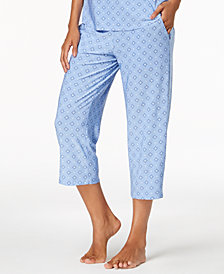 Alfani Printed Cropped Pajama Pants, Created for Macy's