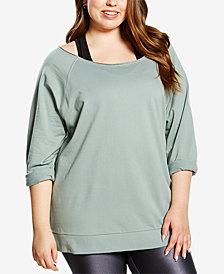 Soffe Curvy Plus Size Dance Crew Sweatshirt