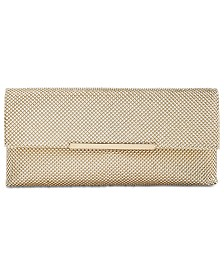 I.N.C. Hether Shiny Mesh Clutch, Created for Macy's