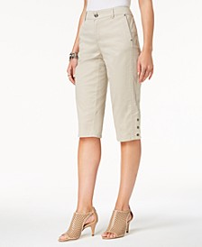 Snap-Button Capri Pants, Created for Macy's