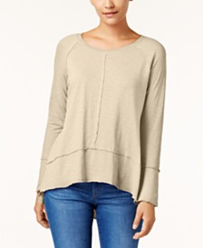 Style & Co Cotton High-Low Top, Created for Macy's
