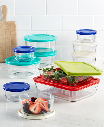 Pyrex 22 Piece Food Storage Container Set, Created for Macy\'s ...