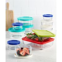 Macys deals on Pyrex 22 Piece Food Storage Container Set