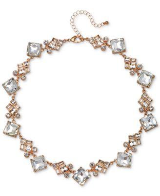 Jewel Badgley Mischka Rose GoldTone Crystal Collar Necklace 15