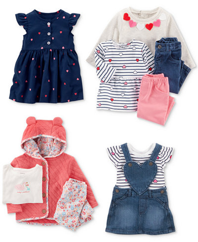 Carter's Hearts Dress & Clothing Sets Collection, Baby Girls