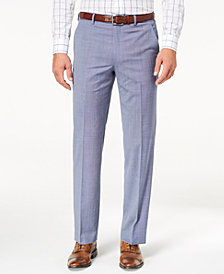 Lauren Ralph Lauren Men's Slim-Fit Ultraflex Stretch Light Blue Tic Suit Pants