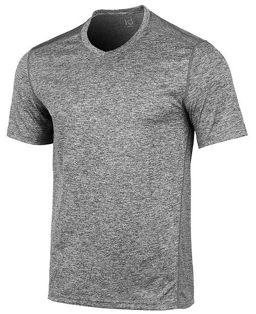 Ideology Men's V-Neck Mesh-Back Performance T-Shirt, Created for Macy's