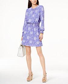 MICHAEL Michael Kors Petite Ribbed Fit & Flare Dress