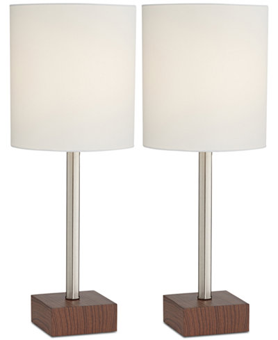 Pacific coast set of 2 contempo table lamps created for macys