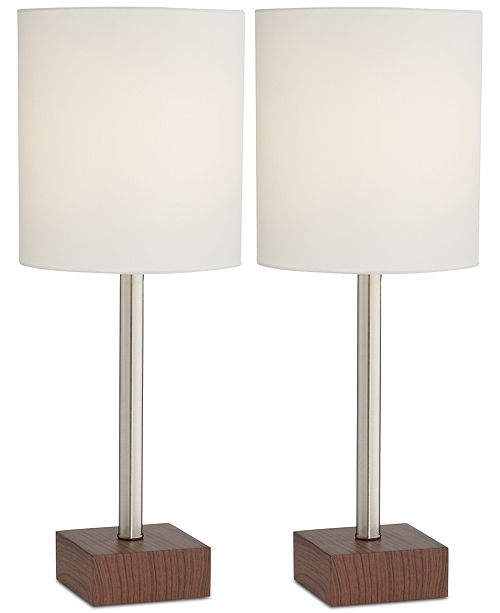 Kathy Ireland Pacific Coast Set of 2 Contempo Table Lamps, Created for Macy's